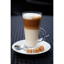 KPL. 6 SZT. SZKLANEK DO CAFFEE LATTE + DŁUGIE ŁYŻECZKI