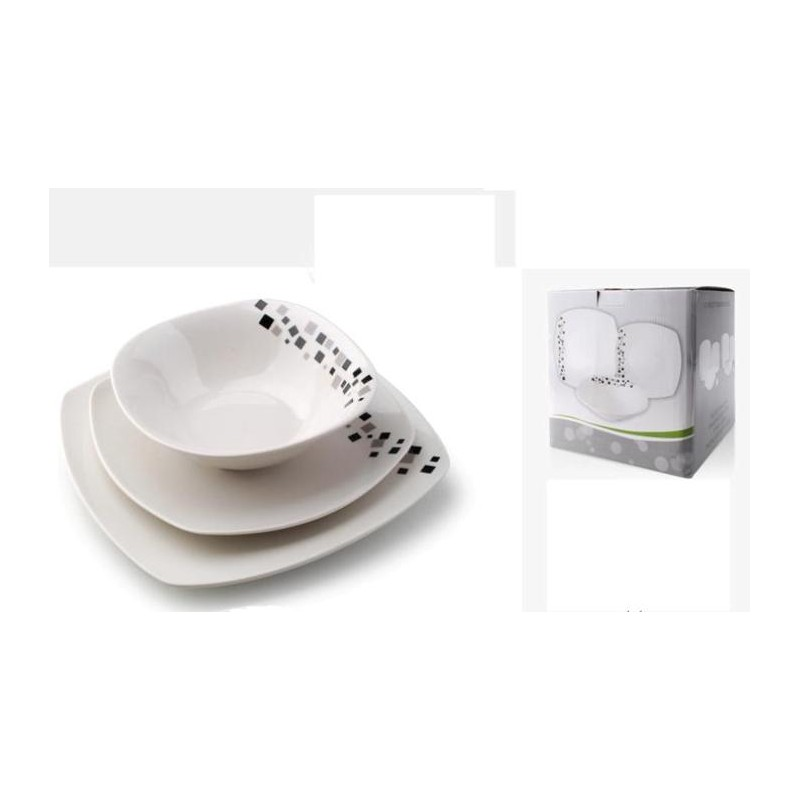 Serwis Obiadowy 18 El Cube Kwadratowy Ceramika Hurtownia Sukces