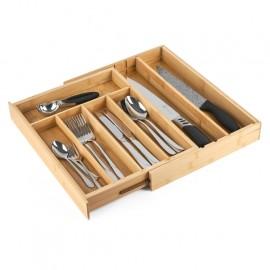 Wkład do szuflady na sztućce bambusowy Konighoffer 30,5-50 x 38 x 5 cm regulowany