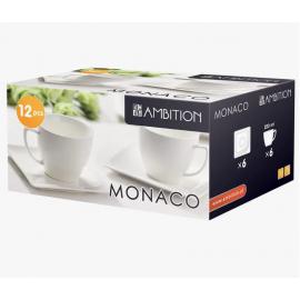 Komplet kawowy Monaco 220 ml 12 elementowy AMBITION